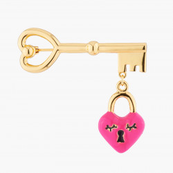 Heart And Key Brooch