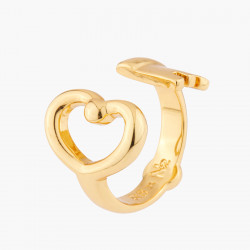 Heart Key Adjustable Ring