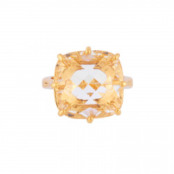 Square Crystal Stone Ring
