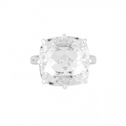 Square Crystal Stone Silver...