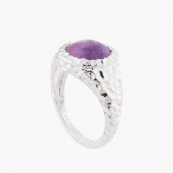 Violet Amethyst Solitaire Ring