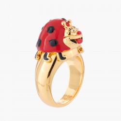 Merry Ladybug Cocktail Ring