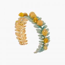 Mimosa Flowers Bangle Bracelet