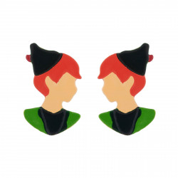 Peter Pan Face Earrings