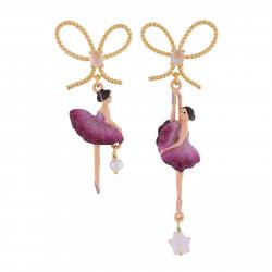 Asymmetrical Earrings Plum...