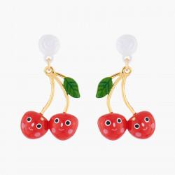 Smiling Cherries Stud Earrings
