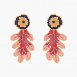 Oak Leaves Stud Earrings