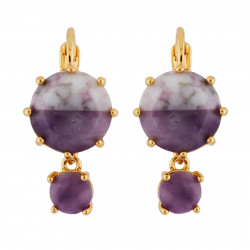Marbled Purple Round Stones...