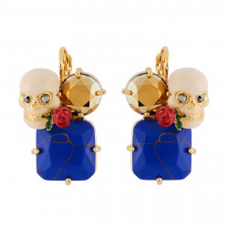 Skull On Stone Earrings