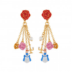 Earrings Red Rose And...