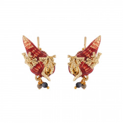 Earrings With Shell And...