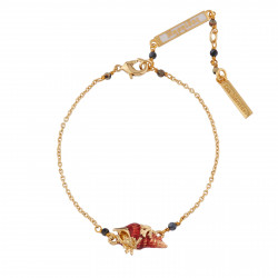 Shell And Coral Lace Bracelet