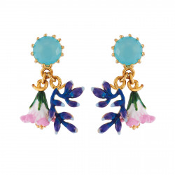 Earrings With Faceted Glass...