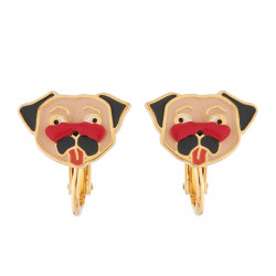Charming Pug Clip-on Earrings