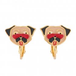 Charming Pug Clip-on Earrings