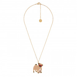 Necklace With Charming Pug...