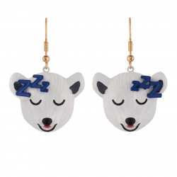 Dozy Polar Bear Earrings