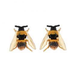 Earrings Bee With Golden Wings