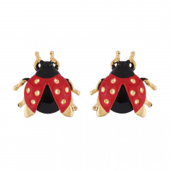 Earrings Ladybug With...