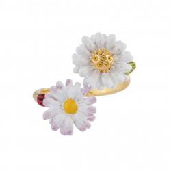 Adjustable Ring Double Daisies