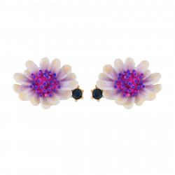 Earrings White Flower With...