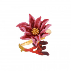 Adjustable Ring Pink Flower...
