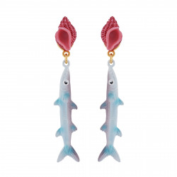 Whelk And Mackerel Earrings