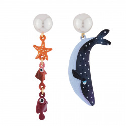 Asymmetrical Earrings With...