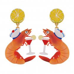 Earrings With Shrimp...