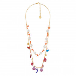 Double Row Necklace With...
