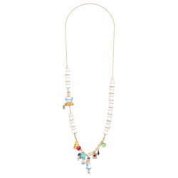 Long Necklace Alice, White...