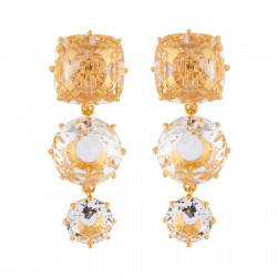 3 Crystal Stones Clip-on...
