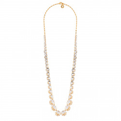 Long Crystal Necklace With...