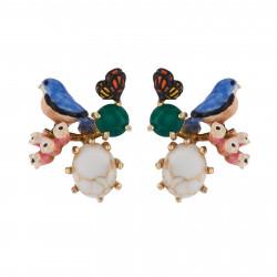 Earrings With Chickadee,...