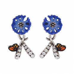 Cornflower And Charms Earrings