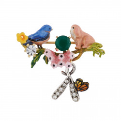 Brooch With Chickadee,...