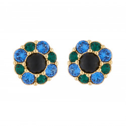 Flower Stud Earrings With...
