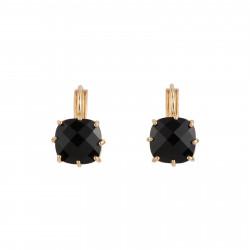 Black Square Stone Earrings