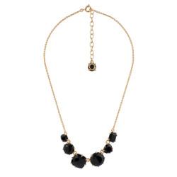 6 Black Stones Necklace