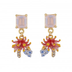 Earrings With Rectangular...