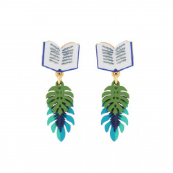 Book And Exotic Tree Leaves...
