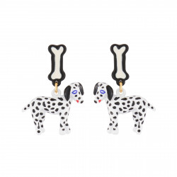 Dalmatian Dog Dangling Stud...