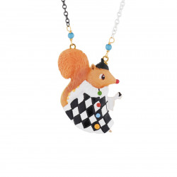 Juggler Squirrel Long Necklace