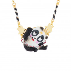 Acrobat Panda Thin Necklace