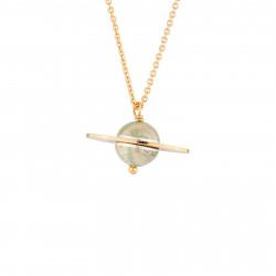Saturn Pendant Thin Necklace