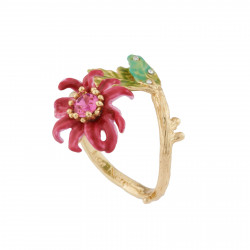 Passion Flower Adjustable Ring