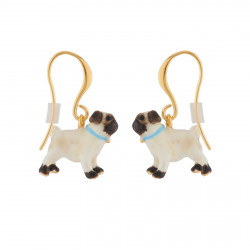 Pug Hook Earrings