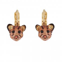 Wild Ocelot Dormeuses Earrings