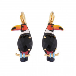 Toucan On Carved Crystal...