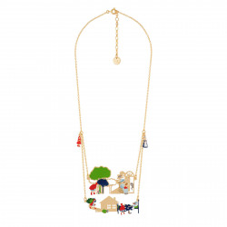 Two Rows Necklace Featuring...